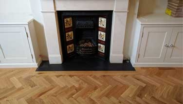 Fireplaces in wood flooring