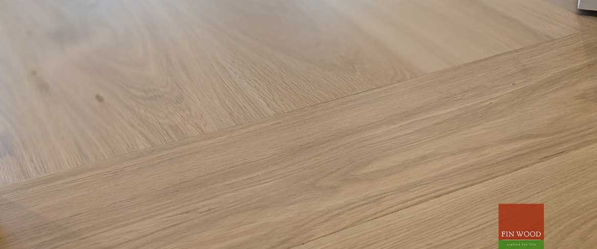 Direction change in wood flooring by Fin Wood Ltd #CraftedForLife